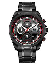 Недорогие -CADISEN Муж. Кварцевый Спортивные часы Китайский Календарь Секундомер Защита от влаги Повседневные часы Фосфоресцирующий Нержавеющая сталь