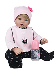 cheap -NPK DOLL Reborn Doll Baby Girl 20inch Silicone / Vinyl - lifelike, Cute, Handmade Girls' Kid's Gift