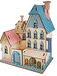 cheap -Wooden Puzzles Logic & Puzzle Toys House Shaped Professional Level Focus Toy Stress and Anxiety Relief Wooden Masquerade Valentine's Day