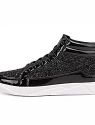 abordables -Homme Chaussures Polyuréthane Printemps / Automne Confort Mocassins et Chaussons+D6148 Marche Or / Noir / Argent / Strass