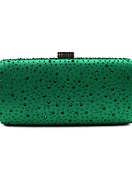 cheap -Women's Bags Metal Evening Bag Crystals Green / Black / Silver