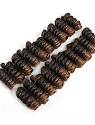 Недорогие -Kenzie Curl Волосы в ямайском стиле Искусственные волосы 1pack Спиральные плетенки косы волос Короткие