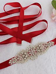 Недорогие -Сатин / тюль Свадьба Особые случаи Кушак With Кристаллы Искусственный жемчуг Пайетки Стразы Жен. Пояса и ленты