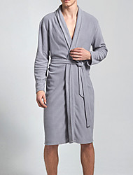 cheap -Men's Shawl Lapel Robes Pajamas Solid Colored