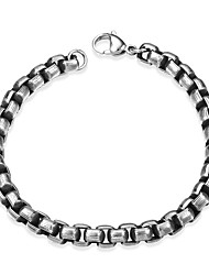 cheap -Men's Chain Bracelet , Fashion Stainless Steel Geometric Jewelry Gift Daily Costume Jewelry Silver