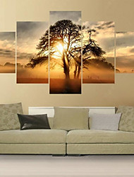 cheap -Rolled Canvas Prints Comtemporary, Five Panels Canvas Square Print Wall Decor Home Decoration