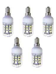 baratos -5pçs 3W 240 lm E12/E14 48 leds SMD 2835 Luz LED Branco AC 220-240V