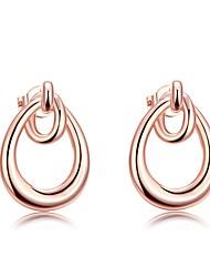 abordables -Femme Cristal Boucles d'oreille goujon - Mode Or Rose Pour Mariage Quotidien