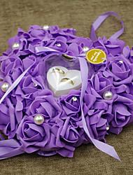 preiswerte -Material Perlenstickerei Print Plastik Baumwolle Ring Kissen Urlaub Klassisch Romantik Hochzeit Frühjahr, Herbst, Winter, Sommer