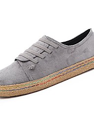 billige -Dame Gummi Forår / Efterår Komfort Sneakers Flade hæle Rund Tå Rød / Grøn / Mørkebrun