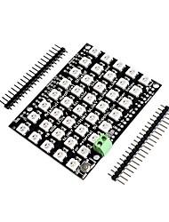 baratos -unidade de cor completa led rgb 40 bit 5 * 8 retângulo ws2812