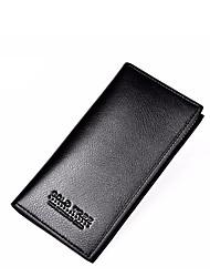 Недорогие -Мешки PU Бумажники Несколько слоев для Официальные Черный / Кофейный