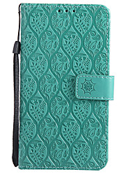 cheap -Case For LG K10 (2017) G6 Card Holder Wallet with Stand Flip Pattern Full Body Cases Solid Color Lace Printing Hard PU Leather for LG X