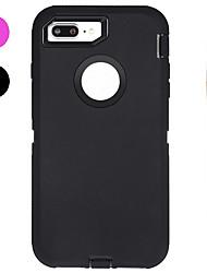 Недорогие -Кейс для Назначение Apple iPhone X iPhone 8 Защита от удара Вода / Грязь / Надежная защита от повреждений с окошком Чехол Сплошной цвет