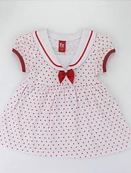 cheap -Girl's Daily Polka Dot Dress, Cotton Summer Short Sleeves Cute Active Black Red