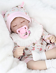 cheap -NPK DOLL Reborn Doll Baby 18 inch Silicone / Vinyl - lifelike, Hand Applied Eyelashes, Tipped and Sealed Nails Kid's Girls' Gift / CE Certified / Natural Skin Tone / Floppy Head
