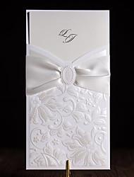 baratos -Embrulhado e de Bolso Convites de casamento 20 - Cartões de convite Estilo Clássico Papel com Relevo Com Relevo