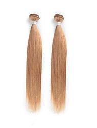 cheap -Brazilian Hair Straight / Classic Ombre Hair Weaves 2 Bundles Human Hair Weaves Strawberry Blonde Human Hair Extensions