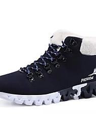 Herre Sko Ruskind Vinter Snestøvler Støvler for Afslappet Sort Mørkeblå Rød