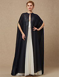 cheap -Sleeveless Chiffon Wedding / Party / Evening Women's Wrap With Button Capes