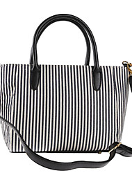 cheap -Women's Bags Canvas Tote Zipper for Casual All Seasons Black