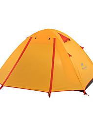 Недорогие -Naturehike 2 человека Световой тент Двойная Палатка Однокомнатная Туристические палатки Хорошая вентиляция Водонепроницаемость