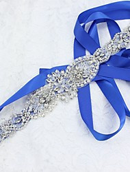 cheap -Satin / Tulle Wedding / Party / Evening Sash With Crystal / Faux Pearl / Crystals / Rhinestones Women's Sashes