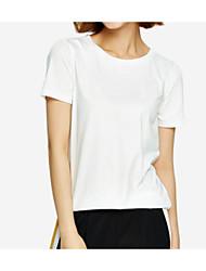 preiswerte -Damen Solide Baumwolle T-shirt