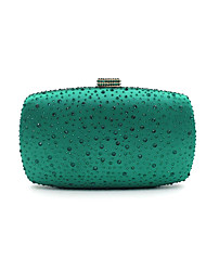 cheap -Women's Bags Metal Evening Bag Crystal Detailing for Wedding Event/Party All Seasons Blue Gold Green Black Silver