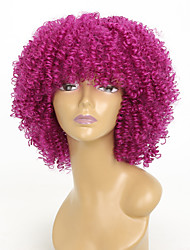 cheap -Synthetic Wig Kinky Curly Synthetic Hair African American Wig Red Wig 8-11inch Capless