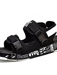 Muškarci Cipele Umjetna koža Ljeto Udobne cipele Sandale za Kauzalni Crno-bijeli Crno/crvena