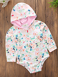 cheap -Girls' Daily Sports Floral Blouse, Cotton Polyester Spring Summer Cute Casual Blushing Pink