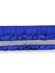 cheap -Women's Bags Silk Evening Bag Sashes / Ribbons / Ruffles Blue / White