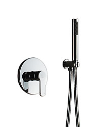 cheap -Simple Style Hand Shower Bathroom Sets Rain Shower Chrome Feature - Handshower Included Shower, Shower Head