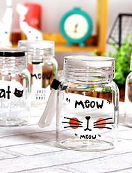 cheap -Drinkware Organic Glass Mason Jar Heat-Insulated 2pcs