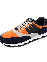 Homens sapatos Micofibra Sintética PU Primavera Verão Conforto Sapatos de mergulho Tênis Corrida Caminhada Drapeado Lateral para Atlético