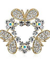 cheap -Women's Diamond / Cubic Zirconia Zircon Brooches - Standing Style / Ethnic Gold Brooch For Gift / Evening Party