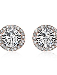cheap -Women's Crystal Stud Earrings With Gift Box - Fashion Lovely Circle For Wedding Daily