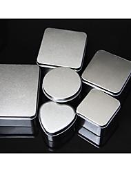 Недорогие -Круглый Square Shape Кубический Никелированный металл Фавор держатель с В виде сердца Коробочки Подарочные коробки Коробка для хранения -