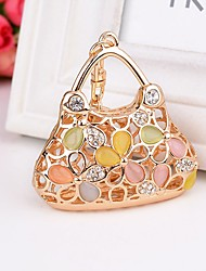 cheap -Birthday Friends Wedding Keychain Favors Rhinestone Alloy Keychain Favors - 1
