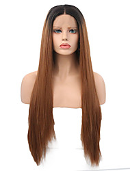 cheap -Synthetic Lace Front Wig Straight Synthetic Hair Brown Wig Women's Long Lace Front