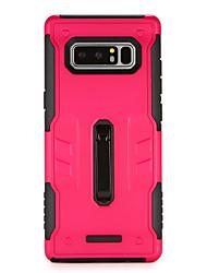 Недорогие -Кейс для Назначение SSamsung Galaxy Note 8 со стендом Кейс на заднюю панель броня Твердый ПК для Note 8