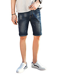 cheap -Men's Plus Size Shorts Jeans Pants - Solid, Hole