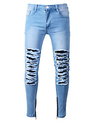 cheap -Men's Street chic Jeans Pants - Solid Colored