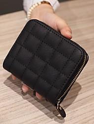 cheap -Women's Bags Cowhide Coin Purse Zipper for Casual Black / Red / Gray