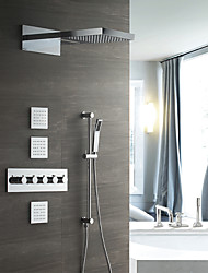 cheap -Shower Faucet - Contemporary Chrome Wall Mounted Ceramic Valve / Brass
