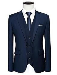 cheap -Men's Plus Size Cotton Blazer - Solid Colored