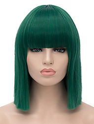 cheap -Synthetic Hair Wigs Straight Capless Carnival Wig Halloween Wig Short Green