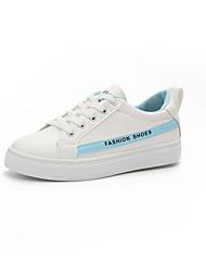 abordables -Femme Chaussures Polyuréthane Printemps Confort Sandales Talon Plat pour De plein air Blanc et argent Blanc et Rouge Blanc/Bleu
