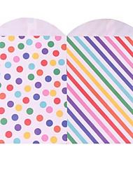 abordables -porte-favoris rectangulaire en papier d'art avec des sacs de faveur-24